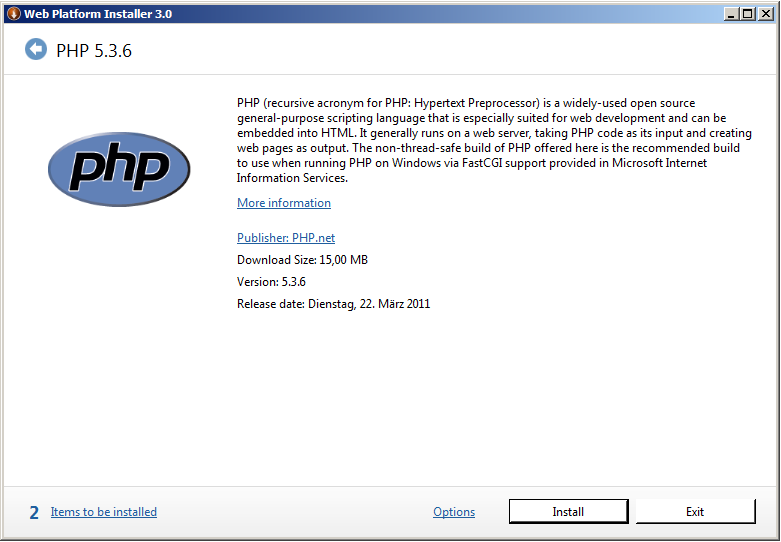 Install PHP to IIS 04